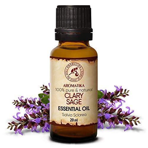 Muskatellersalbeiöl 20ml - Naturreines Ätherisches Öl Muskatellersalbei - Salvia Sclarea - für Beauty Aromatherapie - Aroma Diffuser - Raumduft - Clary Sage Oil