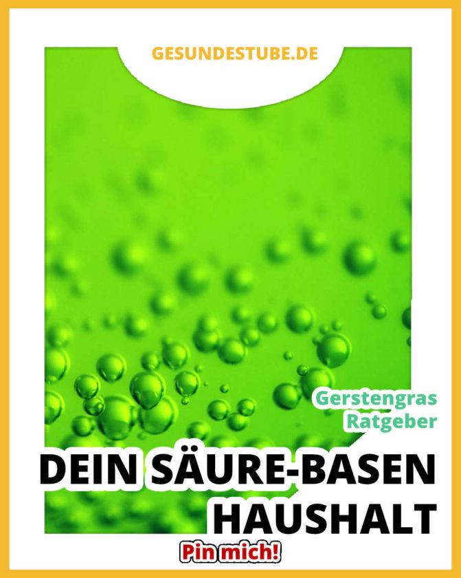 Gerstengras-Ratgeber - Säure-Basen-Haushalt auf gesundestube.de