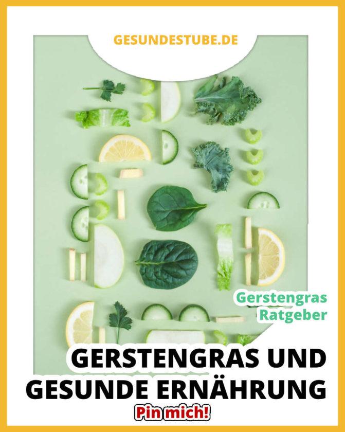 Gesunde Ernährung und Gerstengras