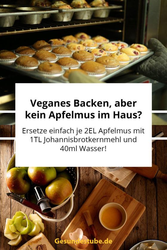 Ersetze beim Backen Apfelmus gegen Johannisbrotkernmehl