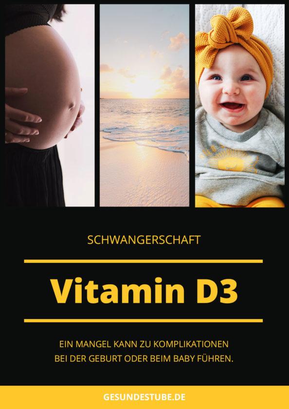 Ein Mangel an Vitamin D3 kann zu Komplikationen in der Schwangerschaft führen.