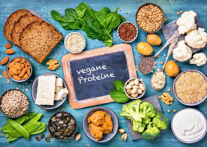 Wo finde ich vegane Proteine?